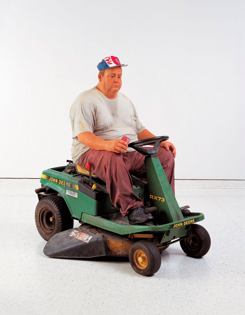 11 Man on Mower 1995 Bronze polychromed with oil