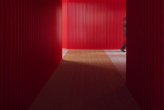 aec cafe red walls