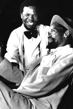 John Kani, Wilson Ntshona, in Sizwi Banzi is Dead, 1971