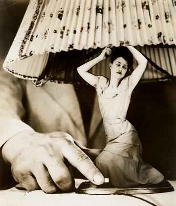 stern girl lamp