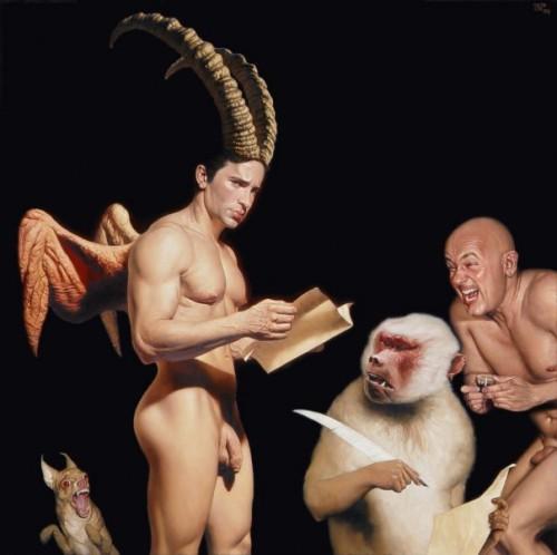 barahona possolo 2 nude man and monkey