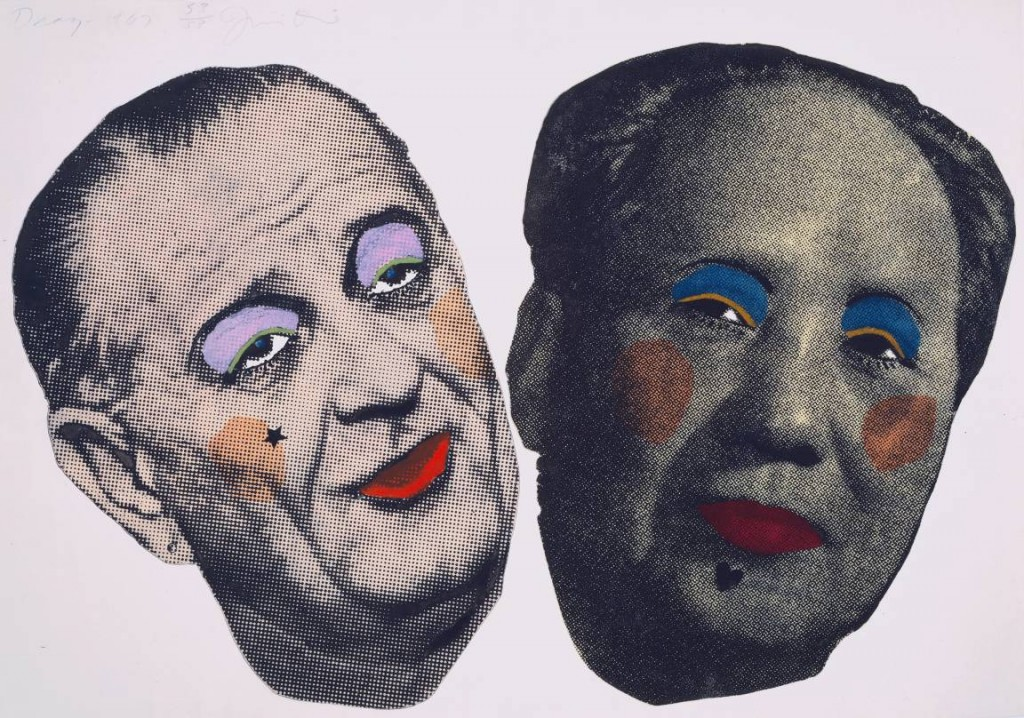 Drag - Johnson and Mao 1967 by Jim Dine born 1935