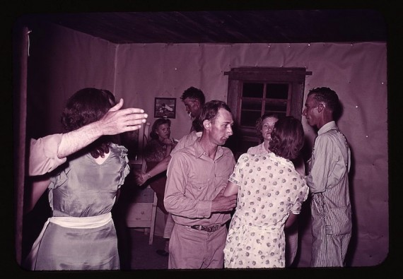 Square dance, Oklahoma 1939-1940, photo by US Farm Security Administration