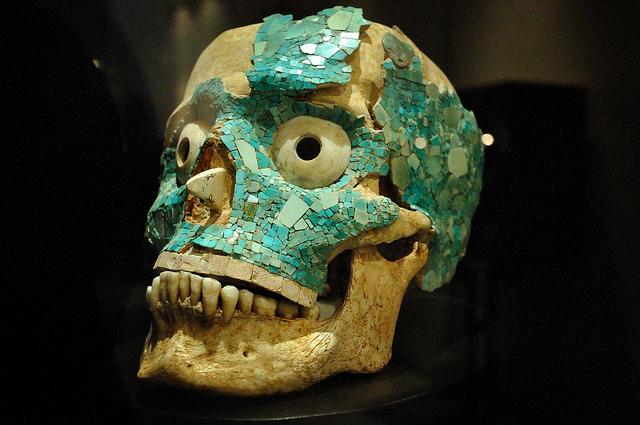 aztec blue skull