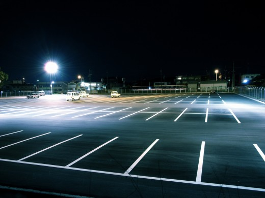 gursky night parking lot