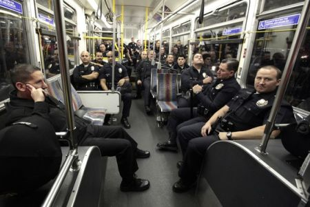 cops on train