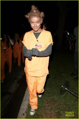 Julianne Hough in blackface, as Crazy Eye, for halloween, 2013