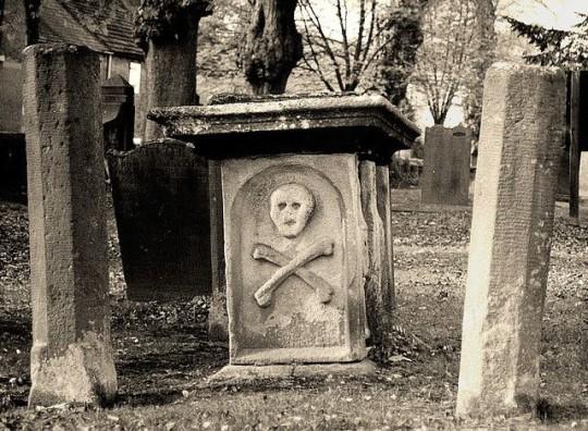 Cemetery, Eyam Berbyshire, marking plague, 1665