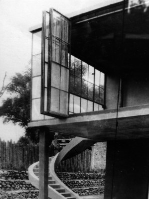 Juan O'Gorman, architect, Casa en Palmas 81, San Angel, Mexico 1929