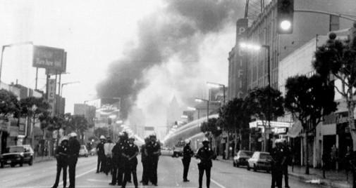 L.A. uprising, 1992. (Dayna Smith photo.)