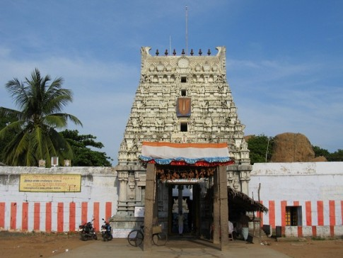 Sthala Sayana Perumal Temple. Mahabalipuram, Tamal Nad, India.