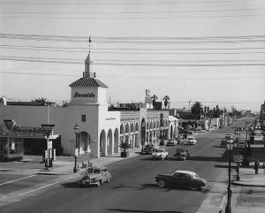 State St., Santa Barbara, CA. 1950s.