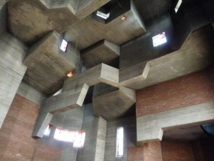 Pilgrimage Church. Neviges Mariendom. Gottfried Bohm architect. 1963