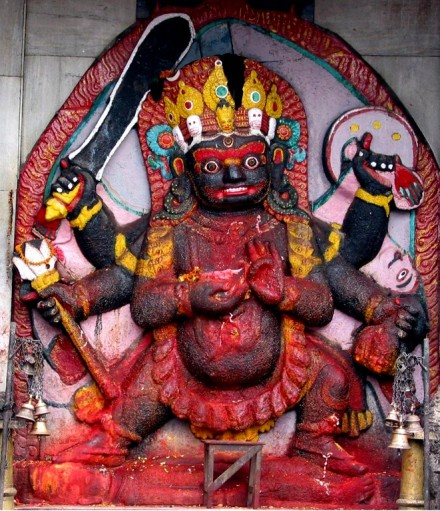 Baihrava, Bhairava is the fierce manifestation of Lord Shiva associated with total destruction.