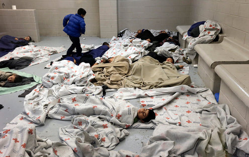Child detainees, Brownsville Texas immigration holding center. 2014
