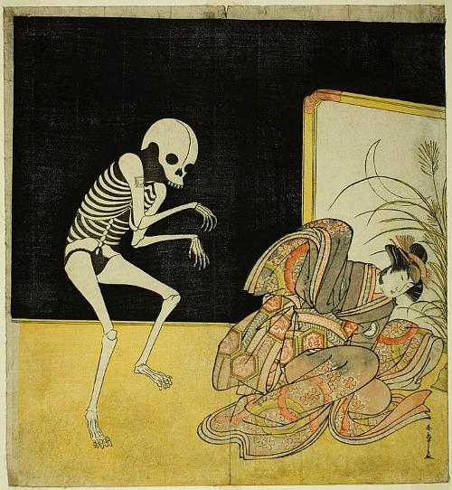 Katsukawa Shunsho, woodblock. 18th century.