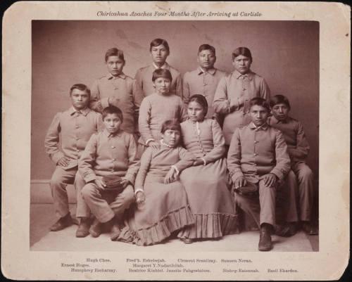 Chiricahua Apaches. Carlisle Boarding school. 1900.