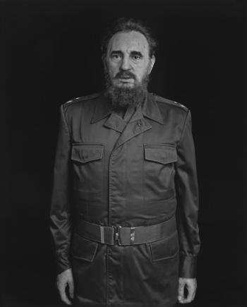 Hiroshi Sugimoto, photography. Portrait of Fidel Castro.