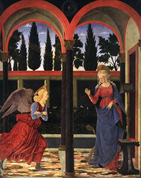 Alesso Baldovinetti. Annunciation 1447, tempura on wood.