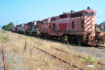 Abandoned NWP train yards, Eureka Ca. 2002 (photo courtesy of History of Fortuna.)