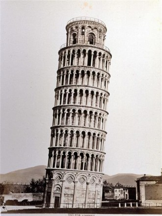 "Giocomo Brogi, photography.  ""Tower of Pisa"", apprx. 1870s."