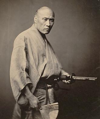 "Felice Beato, ""samurai, 1866""."
