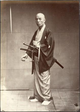 "Felice Beato, photgraphy. ""Samurai, Japan,"". 1860 apprx."