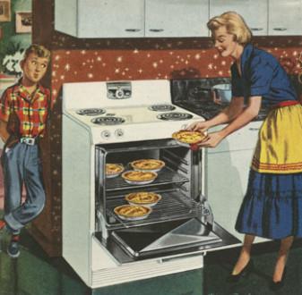 Print advertisement, mid 1950s.