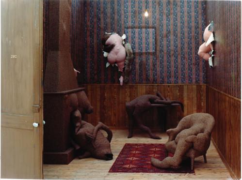 "Dorothea Tanning, multi media, ""Hotel De Pavor, 1970."