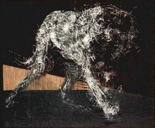 Francis Bacon. painting of a dog, 1952.