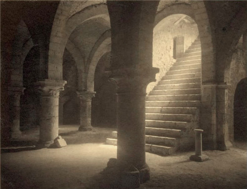 Frederick Evans, photography. 'Crypt cellars, Provins'. 1910.