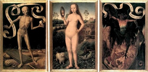 "Hans Memling, ""Eartly Vanity & Divine Salvation"". 1492"