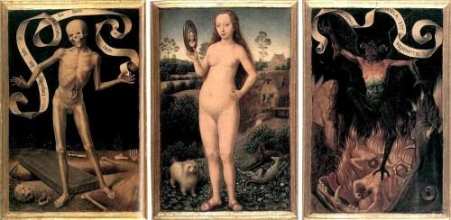 "Hans Memling, ""Eartly Vanity & Divine Salvation"". 1492"