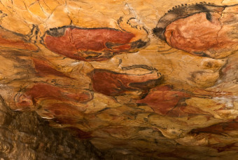 Cave paintings, Altimira, Spain. Paleolithic period.