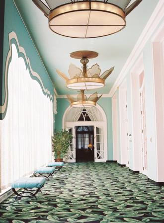 Dorothy Draper interior design. Greenbrier Hotel.