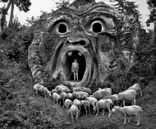 Herbert List, photography. Bomarzo, Park of the Palazzo Orsini. 1952
