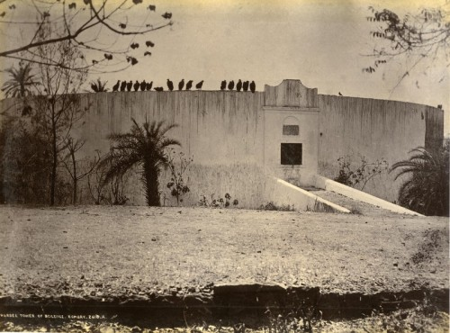 *Towers of Silence*,  Parsi buriel platform.  Edmund Bourne, 1880s. Bombay India.