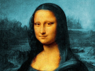 Color corrected Mona Lisa (courtesy of Into the Abyss blog).