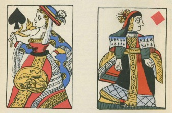 French Revolutionary playing cards, without crowns.