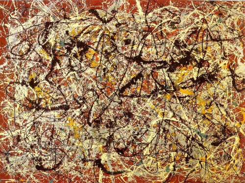 Jackson Pollock, Mural on Indian Red Ground. 1950