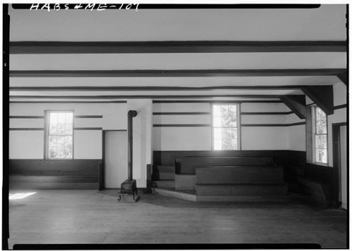 Gerda Peterich, photography. Shaker Meeting House, Cumberland County ME, 1962