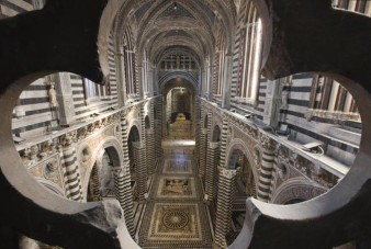 Interior, Cathedral of Siena. Construction started 1215.