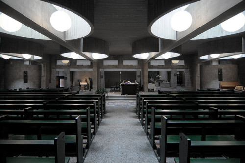 Aldo Van Eyck, architect. Pastoor Van Ars Church, Hague. 1969