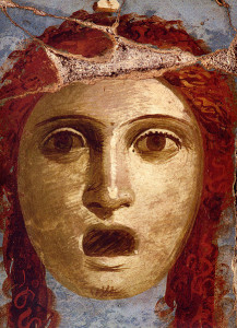 Mask of woman actor, Pompeii, Casa del Bracciale d'Oro