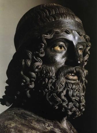 """""""Riace Bronze Statue"""" (460 BC), discovered 1972. Museo Nazionale della Magna Grecia"""