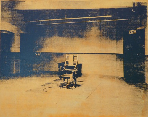 Andy Warhol (Electric Chair, 1967).