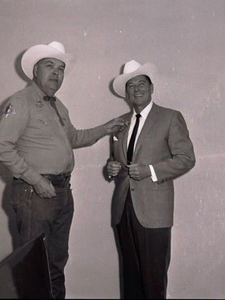 Governor Reagan with Palm Springs police chief Bob Cordes, 1968.