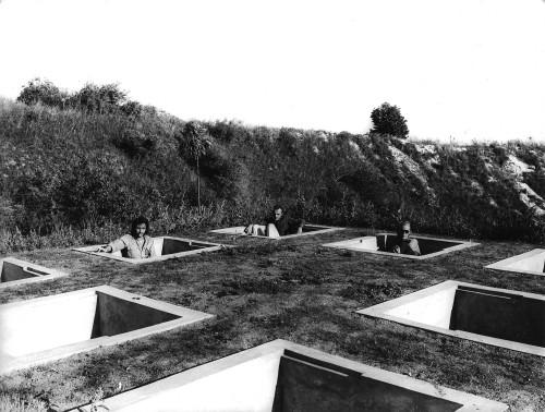 'Sitting Pits', design by Walter Pichler, 1971. For Peter Novler.