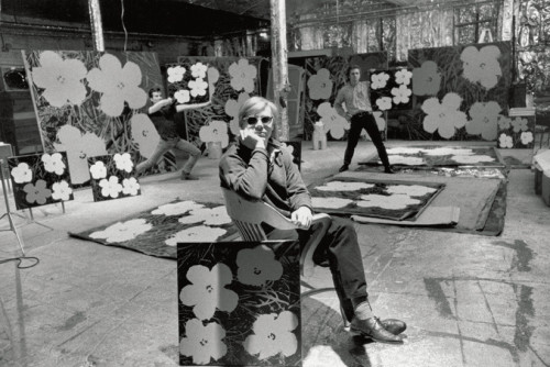 Warhol, at The Factory, 1970.