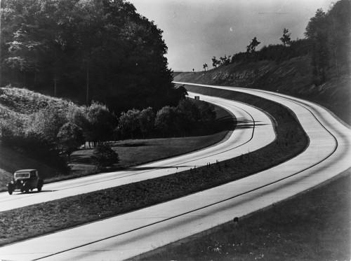 """Deutssche Autobahn (""""Reichsautobahn""""). 1930s."""